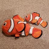 Disney Toys | Disney Nemo Stuffed Animals | Color: Orange/White | Size: 1 Big 1 Small