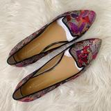 Anthropologie Shoes   Anthropologie Butterfly Brocade Loafer Flats 10   Color: Black/Pink   Size: 10
