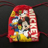 Disney Accessories   Mickey Mouse Drawstring Bag   Color: Red   Size: Small