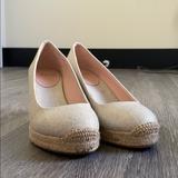 J. Crew Shoes | J Crew Sville Espadrille In Metallic Canvas | Color: Gold/Tan | Size: 7