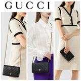 Gucci Bags | Gucci Guccissima Gg Shoulder Bag Crossbody Wallet | Color: Black/Gold | Size: Os