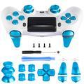 Z&Hveez Metall-Knöpfe für PS4 Controller Gen 2, Metall Aluminium Bullet Buttons & L1 R1 L2 R2 Trigger & Dpad & Thumbsticks Ersatz Kit für PS4 Slim / PS4 Pro DualShock 4 Control, Metal Blue