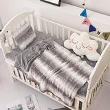 Crib Bedding Set - Crib Bedding Set Girl - Baby Bedding Crib Set Boy - Nursery Bedding Set - Crib Comforter Set - Set of 3 Baby Bedding Set. (Wavy Gray)