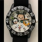 Disney Accessories | Disney Tsum Tsum Time Teacher Watch | Color: Black/Blue | Size: Os