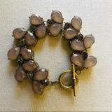 Anthropologie Jewelry | Anthropologie Stone Tennis Bracelet | Color: Gold/Tan | Size: Os