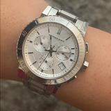 Burberry Accessories   Burberry Chronograph   Color: Silver   Size: Os