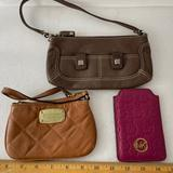 Michael Kors Accessories | Michael Kors Bundle Of 3 Small Leather Accessories | Color: Brown/Pink | Size: Os