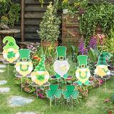 Jayoo 8 Pieces St. Patrick's Day Gnomes Yard Signs, Leprechaun Shamrock Irish Saint Patty's Day Lawn Decorations Outdoor Decor with Stakes (8 Pieces St. Patrick's Day Gnomes)