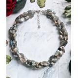 My Gems Rock! Women's Necklaces gray - Freshwater Cultured Pearl & Labradorite Three-Strand Necklace