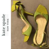 Kate Spade Shoes   Katespade Ny Italian Slingback Sandal Pumps   Color: Green/Yellow   Size: 6.5