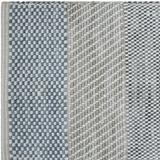 CompanyC Abstract HandwovenArea RugPolyester/Cotton/Wool in Blue, Size 12.0 H x 12.0 W x 0.5 D in   Wayfair 11006-BLUE-1X1