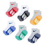 Baby / Toddler Nike 6 Pack Ankle Socks, Toddler Unisex, Size: 12-24MONTH, Brt Red