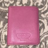 Coach Bags | Coach Pink Leather Credit Card Holder Wallet | Color: Pink | Size: Os