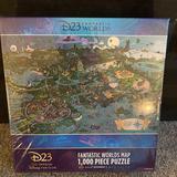 Disney Games | Disney D23 Fantastic Worlds Map Puzzle | Color: Gold | Size: Os