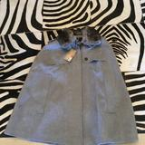 Burberry Jackets & Coats | Burberry Wool And Rabbit Fur Cape Size L New (2x) | Color: Gray | Size: L