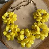 J. Crew Jewelry   Euc Jcrew Yellow Tone Floral Necklace   Color: Gold   Size: Listed