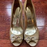 Coach Shoes   Coach Elora Peep Toe Wedge   Color: Tan/Yellow   Size: 8