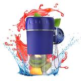 Grebest Portable Blender,Personal Size Blender Smoothies and Shakes, Handheld Blender USB Rechargeable for Sports 4-blades Fruit Juicer Mixer Bottle Kitchen Tool for Travel, Picnic,Office (Blue)
