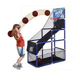 Kids Basketball Hoop/Arcade Game With 2 Balls - Mini Indoor Toy Basketball shooting system, Toy Basketball Hoop Arcade Game indoor Sports Toys for Kids ages 2-10