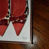 Coach Shoes   Coach Animal Print Kitten Heel Pump   Color: Red/Tan   Size: 7