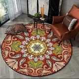 Living Room Rugs,5' Round Rug Floral Area Rug Modern Weaving Comfortable and Beautiful Easy to Clean Non-Slip Area Rug,E,5'3'