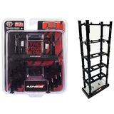 New Stackable Diecast Auto-Lifts 5 Piece Set ADVAN Yokohama for 1/64 Scale Model Cars by M2 Machines