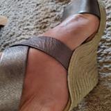 Michael Kors Shoes   Michael Kors Beach Wedge Espadrilles   Color: Silver   Size: 9.5