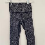 Lululemon Athletica Pants & Jumpsuits | Lululemon Exercise 34 Exercise Black Leggings | Color: Black/Silver | Size: 4
