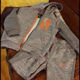 Nike Matching Sets   2 Piece Pants Set   Color: Gray/Orange   Size: 18mb
