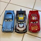 Disney Toys | Disney Car Toy Set Used For Collection | Color: Blue/Red | Size: One