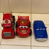 Disney Toys | Disney Car Toy Set Used For Collection, Plastic | Color: Blue/Red | Size: One