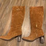 Michael Kors Shoes   Michael Kors Tall Cognac Suede Heeled Boots   Color: Brown   Size: 10