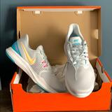Nike Shoes | Nike Womens Tennis Shoes | Color: Gray/White | Size: 9