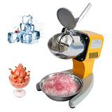 Ice Shaver, Electric Ice Crusher Machine Snow Cone Maker Machine, Business & Household Use Snow Cone Maker With Food Grade Stainless Steel Blades, 265Lbs/Hr, 110V/200W/1450RPM Shaved Ice Maker