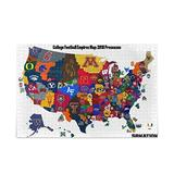 College Football Empires Map 500 Pcs Jigsaw Puzzle for Adults - Novelty Artwork Puzzle Intellectual game Fun Puzzle - Large Puzzle Game Decompression Toys For Young Adults