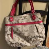 Coach Bags   Coach Signature Shoulder Large Bag   Color: Pink/Tan   Size: Os