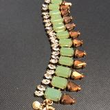 J. Crew Jewelry | J. Crew Fashion Bracelet | Color: Gold/Green | Size: Os