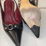 Coach Shoes   Authentic Coach Black Slingback Kitten Heel Pointy   Color: Black/Silver   Size: 6 12 B