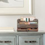 Gracie Oaks Stonefort 3 Slot Office File Organizer Wood in Brown, Size 6.9 H x 12.75 W x 6.75 D in | Wayfair 4BDD39939BB24A40BD99C9B1BD2C5698
