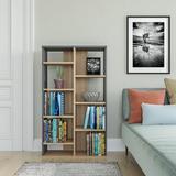 "Latitude Run® Gjylferije 48.66"" H x 28.35"" W Standard Bookcase Wood in Black, Size 48.66 H x 28.35 W x 9.84 D in | Wayfair"