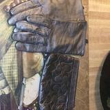 Coach Accessories | Metallic Chrome Leather Coach Wristlet&Gloves | Color: Silver | Size: Os