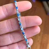 Anthropologie Jewelry   .925 Lapis Bracelet   Color: Blue/White   Size: Os