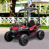 Aosom Electric Ride on Car Off-Road UTV Toy Metal, Size 41.0 H x 30.0 W x 46.5 D in   Wayfair 370-149V80RD