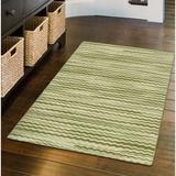 Ebern Designs Flechia Chervon Tufted Area Rug Plastic in Green, Size 34.0 H x 20.0 W x 0.3 D in   Wayfair 8E833C14D6E74C42B2AF7BA70F1E55C4
