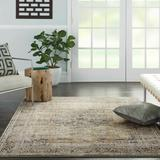 Sand & Stable™ Lamont Oriental Beige/Gray Area Rug Polyester/Polypropylene in Brown/Gray, Size 87.0 H x 63.0 W in | Wayfair