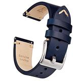 Ritche 22mm Leather Watch Band, Quick Release Leather Watch Strap Compatible with Fossil Gen 5 Carlyle / Citizen Eco-Drive AW1361-10H Leather Watch Bands for Men Women