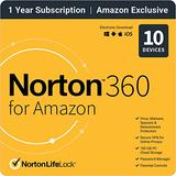 EXCLUSIVE Norton 360 for Amazon – Antivirus software for 10 Devices with Auto Renewal [Subscription]
