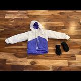 Columbia Jackets & Coats | Columbia Jacket Xxs (Size 4-5) Girl Winter Coat | Color: Purple/White | Size: Xxs (4-5)