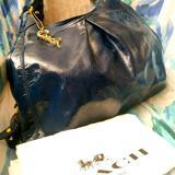 Coach Bags   Coach Madison Maggie Patent Blue Bag #13900 Euc   Color: Blue   Size: 14 X 11