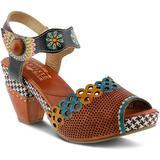 Jive Platform Sandal - Brown - Spring Step Heels